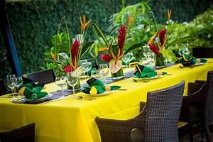 Jamaican Themed Table Settings