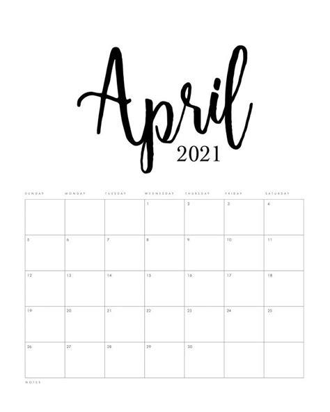 printable  minimalist calendar  cottage