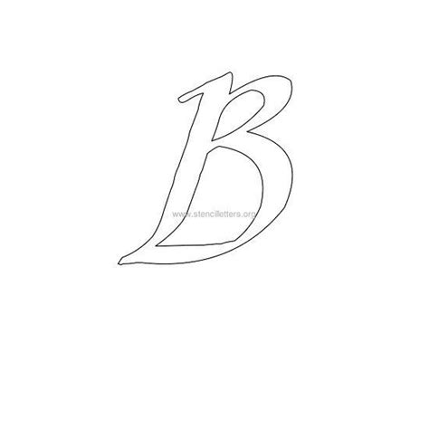 uppercase calligraphy wall stencil letter  letter
