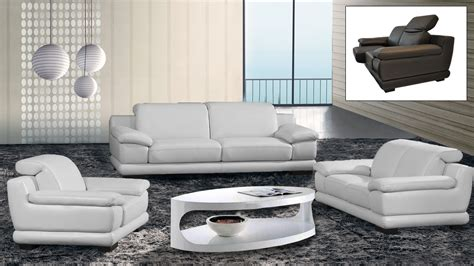 ensemble canape salons cuir mobilier cuir