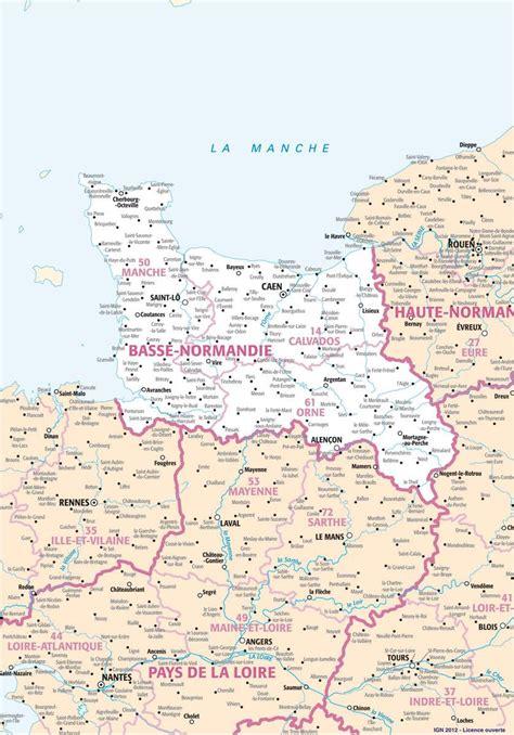 Carte De Normandie Detaillee by Carte De La Basse Normandie Plusieurs Cartes De La R 233 Gion