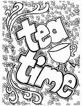 Coloring Tea Pages Adults Adult Bookmark Printable Coffee Colouring Belgium Party Sheets Books Ups Easy Getcolorings Getdrawings Games Fun Grown sketch template