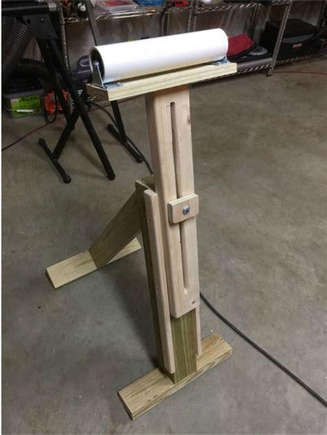 custom adjustable pvc roller stand indianaworkshopjones
