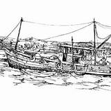 Boat Coloring Fishing Pages Dock Broken Fisherman Traditional sketch template