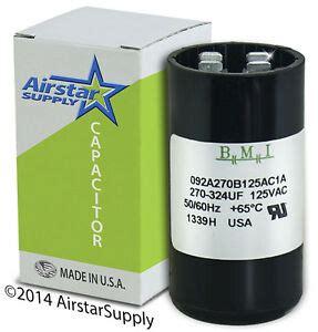 usa start capacitor 270 324 mfd uf 110 125 v ac electric motor vac volt ebay