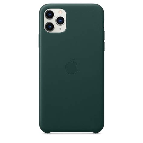 apple apple iphone  pro max leather case forest green