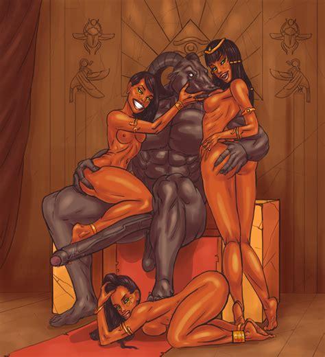 Egyptian Foursome By Mnogobatko Hentai Foundry