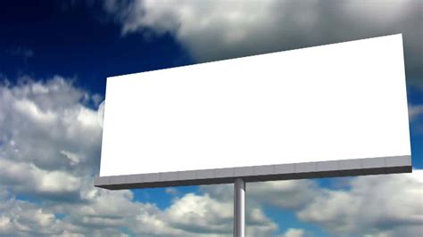 Billboard Sign blank billboard royalty  video  stock footage 1280 x 720 · jpeg