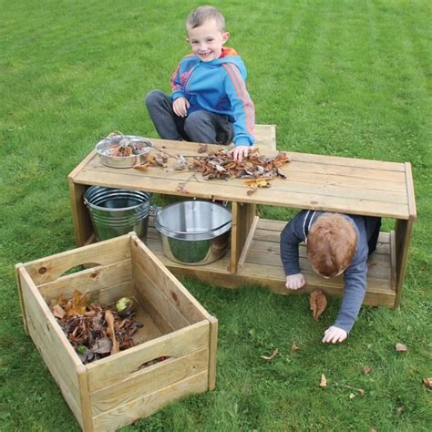 outdoor discovery bench crates outdoor learning