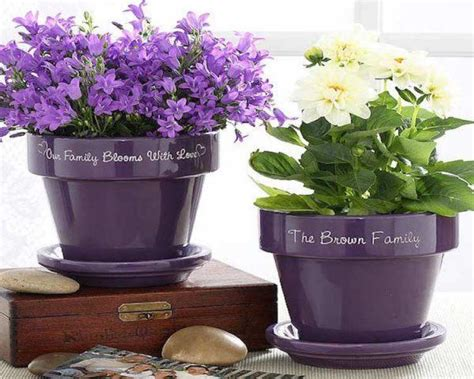 Garden Decoration Pots Ideas by Diy Decorative Flower Pots Littlepieceofme