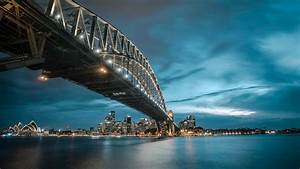 sydney harbor bridge sydney ausralia skyline