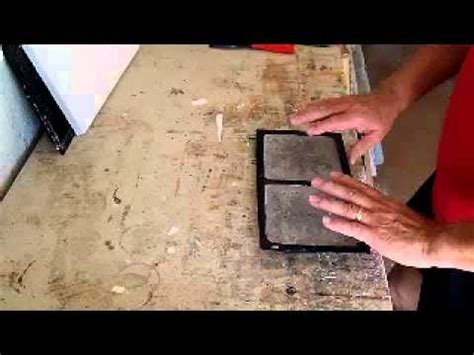 how to remove concrete and plaster tiles from abs molds or