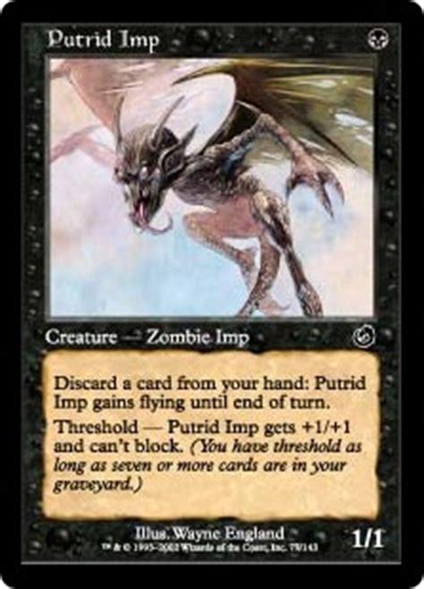 graveborn deck list visual putrid imp from graveborn spoiler