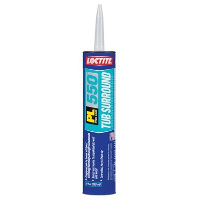 Adhesive For Tub Surround by Standard Plumbing Supply Product Loctite Pl 550 Tub
