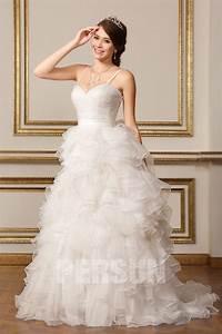 Robe Mariée 2016 : robe de mari e 2016 en organza volants ~ Farleysfitness.com Idées de Décoration