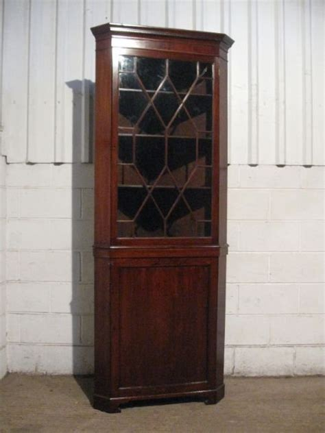 mahogany corner display cabinet antique georgian mahogany astragal glazed height 7319