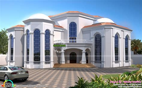 luxurious home plans central air conditioner house plan kerala home design