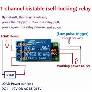 Io25a01 5v Flip Flop Latch Relay Module Bistable Self