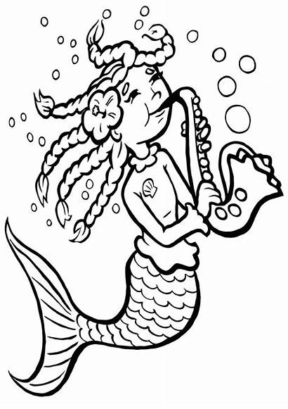 Saxophone Coloring Pages Coloringway
