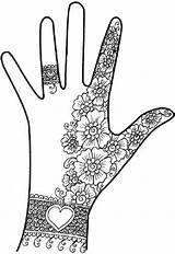 Henna Hand Mehndi Designs Simple Pakistani Hands Coloring Zentangle Arabic Pages Easy Zentangles Doodles Patterns Mehendi Printable Tattoo Colouring Doodle sketch template