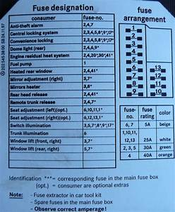 1972 Mercedes 280 Fuse Diagram