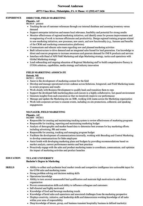 field marketing resume samples velvet jobs