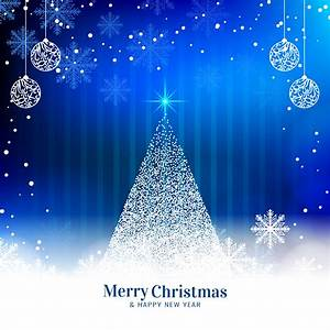 Abstract, Merry, Christmas, Blue, Background