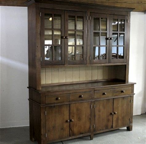 hutch vintage rustic hutch in antique walnut finish ecustomfinishes