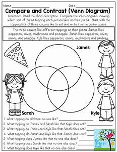 Compare And Contrast  Venn Diagram  3 Things