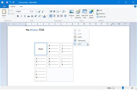 Resume Setup Exle by How To Use Wordpad In Windows 10
