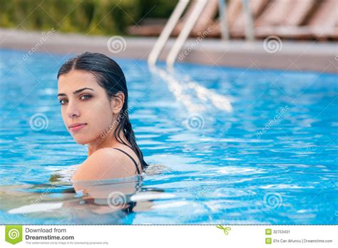 Girl In Swimming Pool Stock Image Image Of Healthy
