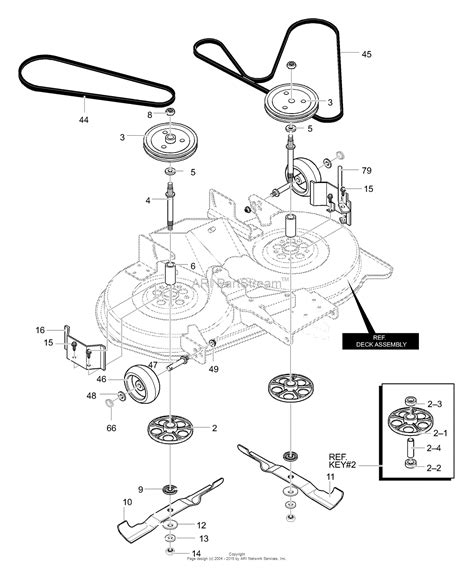 murray 40307x58b lawn tractor 2000 parts diagram for deck assembly part 2