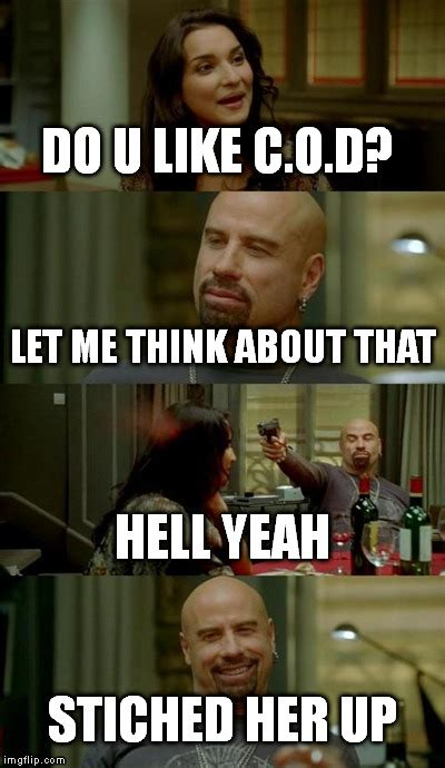 Travolta Meme - skinhead john travolta meme imgflip