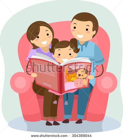 family reading together clipart stickman illustration family reading book together stock