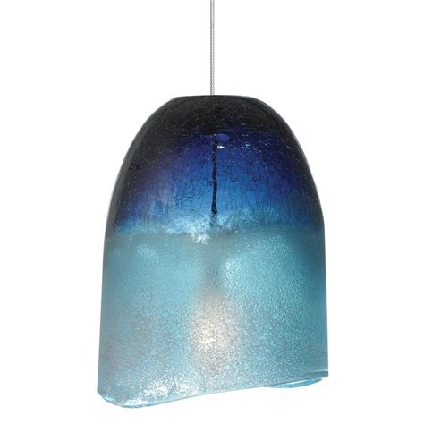 blue pendant light lbl lighting chill 1 light satin nickel xenon mini pendant