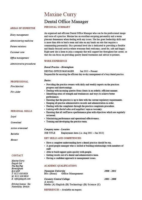 dental office manager resume job resume examples resume