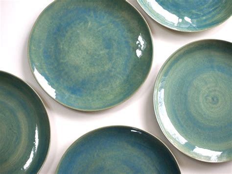 made plates stoneware plates dinner set glazed in green ceramic plate