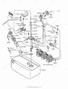 Kawasaki Jet Ski 1998 Oem Parts Diagram For Fuel Tank