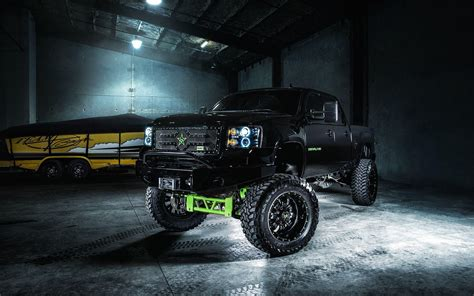 Black Truck Wallpaper by Chevy Truck Wallpapers Wallpaper Cave