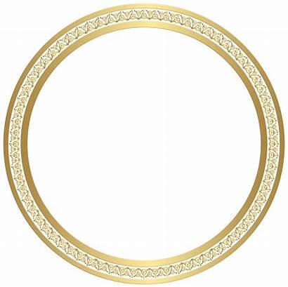 Border Frame Round Clipart Clip Circle Golden