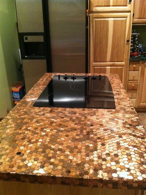 Penny countertop   Kitchens   Pinterest