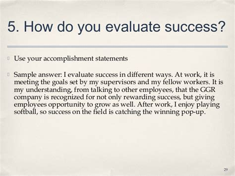How Do You Evaluate Success 9 3 interviews lecture slides