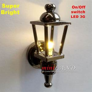 Black Carriage Lamp Sconce Super Bright With On  Off Switch