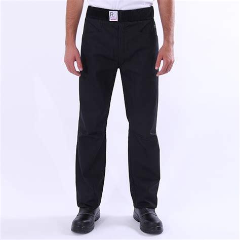 pantalon cuisine noir arenal robur confortable et ceinture brevet 233 e