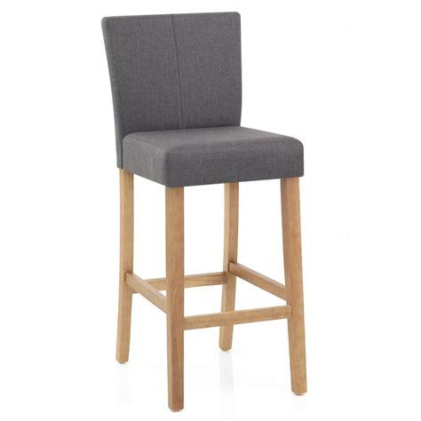 chaise de bar bois chaise de bar bois et tissu cornell monde du tabouret