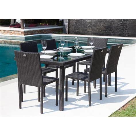 ensemble table et chaises de jardin ibiza ensemble table de jardin 180 cm et 6 chaises résine