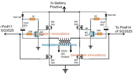 Full Bridge Inverter Circuit