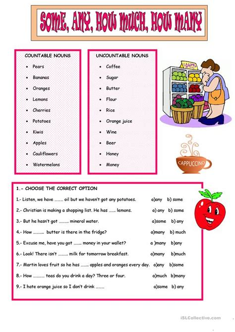 some any how much many worksheet free esl printable worksheets made by teachers