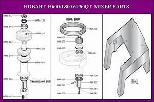 Hobart 60qt H600 Mixer Parts And Accessories