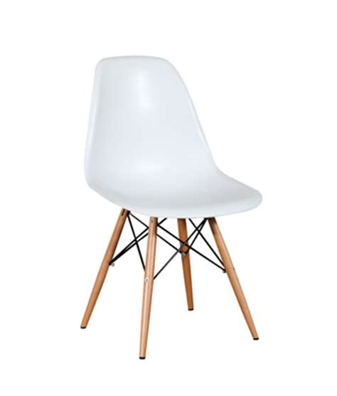 eames plastic side chair white dowel miami event tables